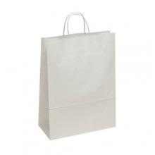 White Kraft Paper Carrier Bags