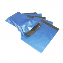 Blue Metallic Mailing Bags - Permanent Adhesive Seal
