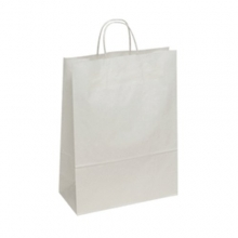 White Kraft Paper Carrier Bags - Twisted Paper Handles