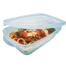 Clear Rectangular Microwavable Containers