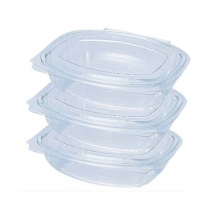 Salad Boxes - Clear Oval Hinged Lid Containers