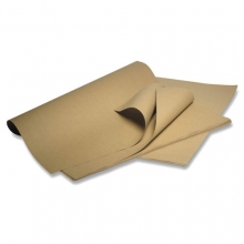 Brown Ribbed Kraft Paper Sheets