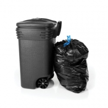 Black Wheelie Bin Liners on a Roll - 600 x 1160 x 1370mm