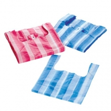 Blue/Red Striped Vest Carrier Bags