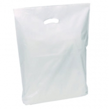 Patch Handle Carrier Bags - White