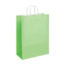 Light Blue Kraft Paper Carrier Bags