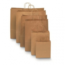 Brown Kraft Paper Carrier Bags - Twisted Paper Handles