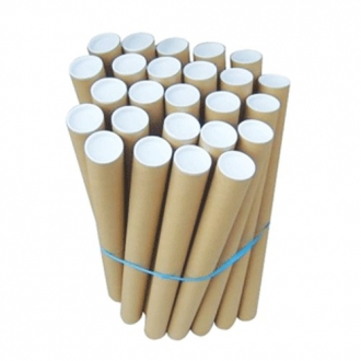 Cardboard Postal Tubes With End Caps