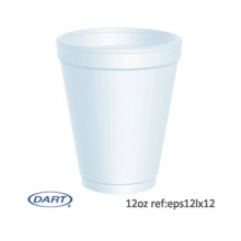 Dart 12oz Disposable Foam Cups