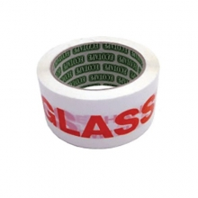 GLASS WITH CARE Warning Tape - 48mm x 66m