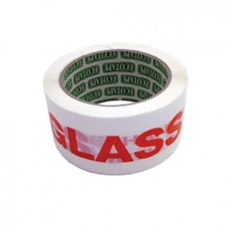 GLASS WITH CARE Warning Tape